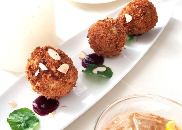 duck risotto ccroquettes